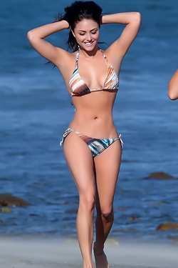 Cassie Scerbo On The Beach